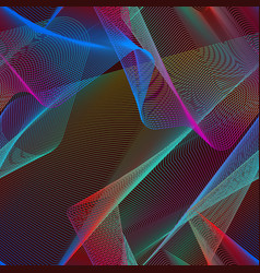 Iridescent chaotic seamless pattern swatch of vector