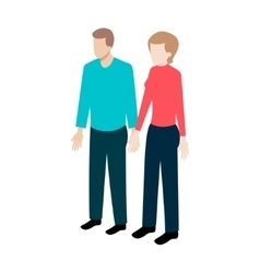 Isometric couple of people vector image