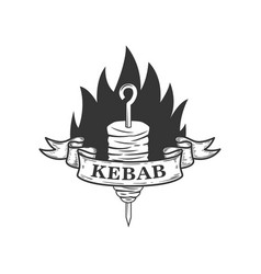 kebab design element for logo label emblem sign vector image
