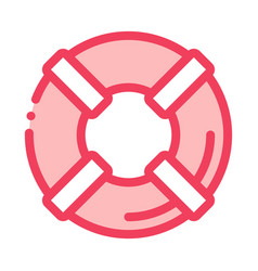 lifebuoy canoeing icon vector image