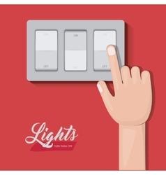 Light switch design vector