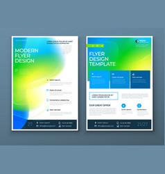 liquid abstract flyer design fluid dynamic vector image