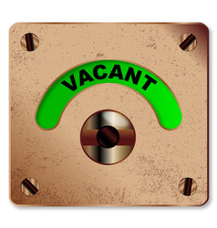 Loo vacant indicator vector