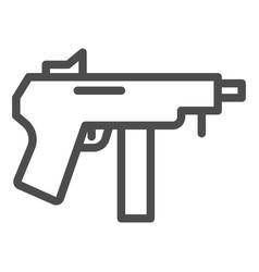 machine gun line icon automatic bomb vector image