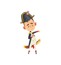 Majestic napoleon bonaparte cartoon character vector