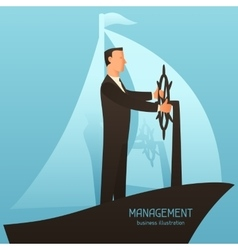 Management business conceptual with vector image
