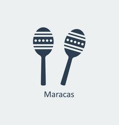 maracas icon silhouette icon vector image