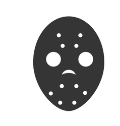 Mask hockey sport vector