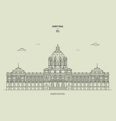Minnesota state capitol in saint paul usa vector