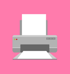 Modern printer with paper icon or symbol concept vector
