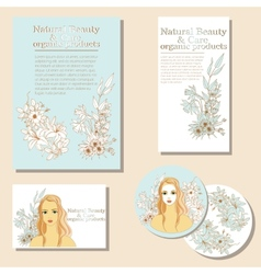 Natural Beauty and Care organic products vector image