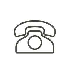 old phone icon outline telephone line vin vector image