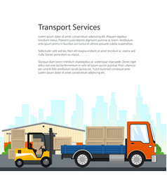Poster of transport services vector