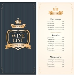 Royal wine list vector