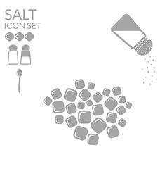 Salt Icon set vector