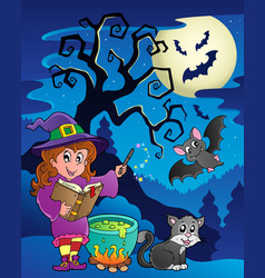 Scene with halloween theme 9 vector