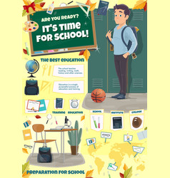School time or back to college poster vector