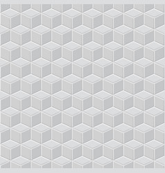 seamless pattern of gray cubes vector image