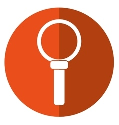 Search loupe magnifier tehcnology shadow orange vector