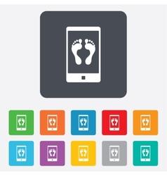 Selfie legs sign icon Self feet photo symbol vector