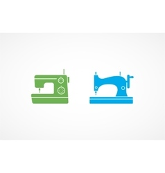 Sewing Machine Icons vector image