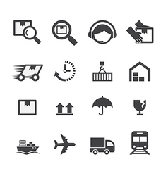 shipping icon vector image