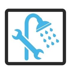 Shower Plumbing Framed Icon vector
