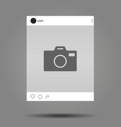 social network post with place for photo vector image