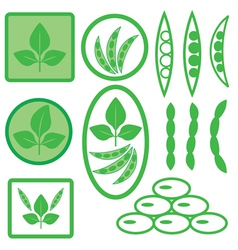 Soya icons vector