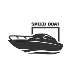 Speed boat logo vector