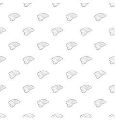 Sport helmet pattern seamless vector