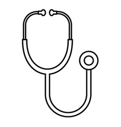 stethoscope icon outline style vector image