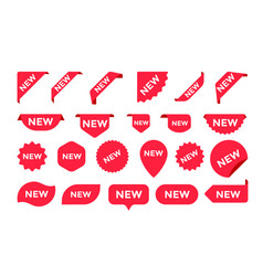 stickers icons for shop sale tags labels vector image