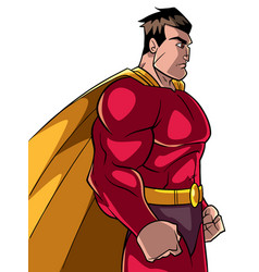 Superhero side profile vector