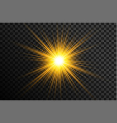 transparent glowing lens flare background vector image