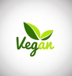 Vegan leaf green logo icon design vector
