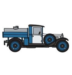 Vintage dairy tank truck vector
