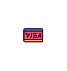 visa icon design e-commerce icon design vector image