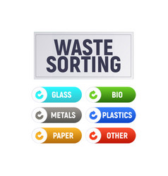 Waste sorting vector