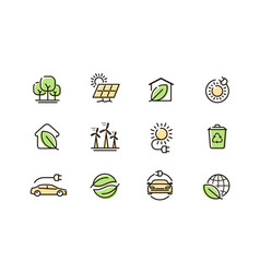 web icons set collection outline symbol vector image