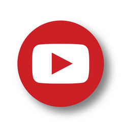 Youtube logo icon vector