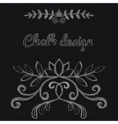 Chalk floral ornament vector image