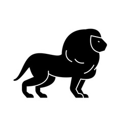 lion icon sign on isolate vector image