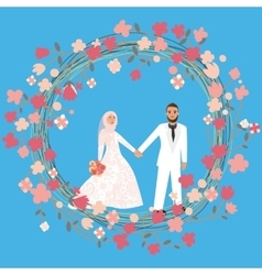 man woman couple relationship marriage in Islam vector image vector image