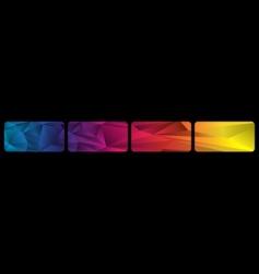 set spectrum banners vector image