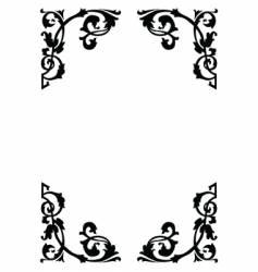 victorian ornamental page borders vector image vector image