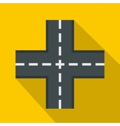 Crossing road icon flat style vector