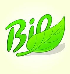 green bio label vector image vector image