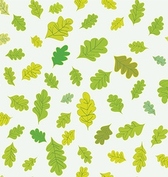 Oak leaves seamless pattern vector image vector image