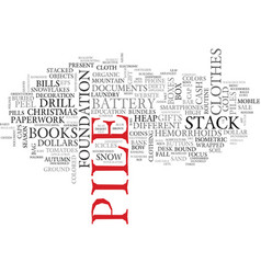 pile word cloud concept vector image vector image
